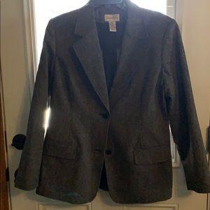 Grey tweed Chadwick's  tapered blazer